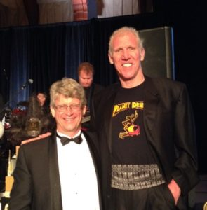 peter hanson with bill walton at his book release party